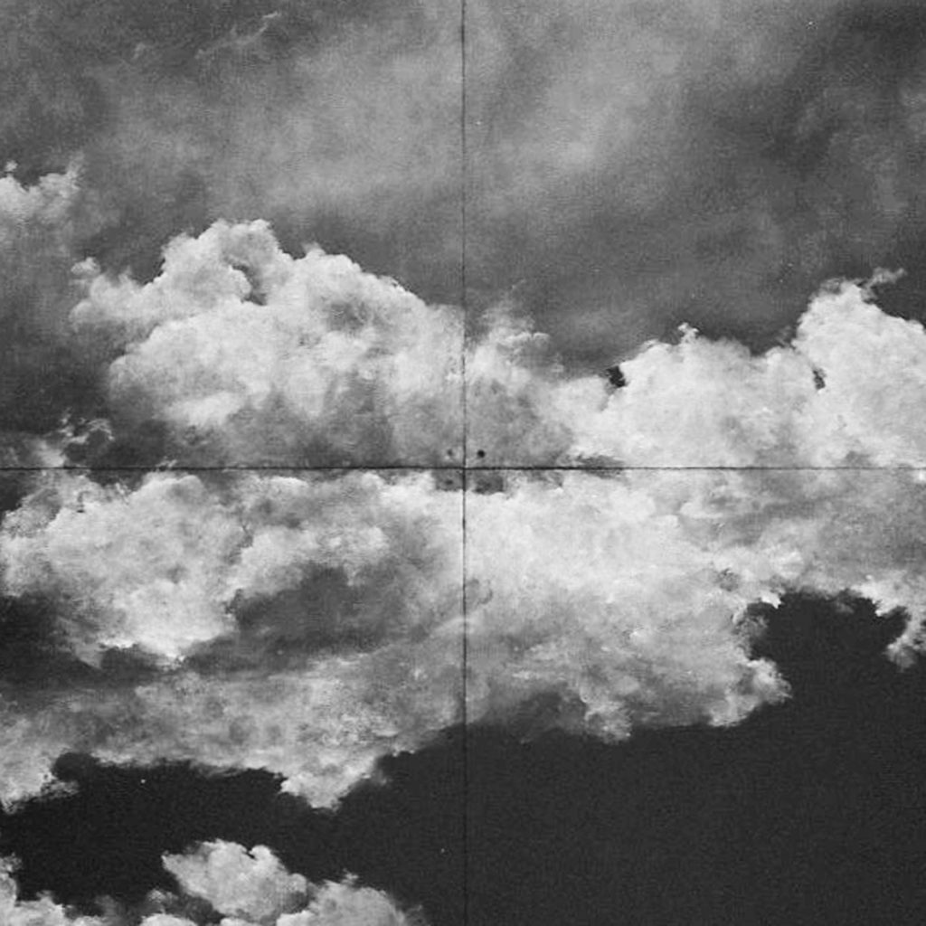 """Extrait d'une peinture de Tacita Dean """"Cumulo"""" photographiée à la Fondation Beyeler de Basel au Konica pop"""