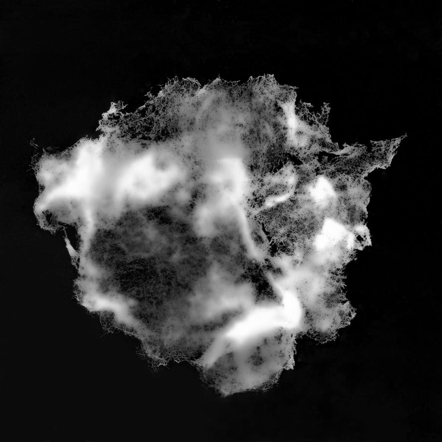 Photogramme de barbe à papa représentant un filament d'Adn